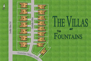 The Villas at The Fountains Plat Map